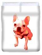 Orange Terrier Duvet Cover