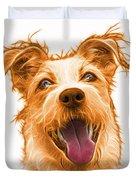 Orange Terrier Mix 2989 - Wb Duvet Cover