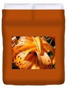 Orange Tiger Lily Flower Art Prints Giclee Baslee Troutman Duvet Cover