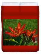 Orange Tiger Lily Duvet Cover