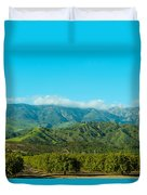 Orange Tree Grove, Santa Paula, Ventura Duvet Cover