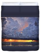 Orange Trouble Duvet Cover