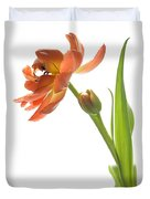 Orange Tulip Duvet Cover