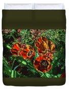 Orange Tulip Chrome Duvet Cover