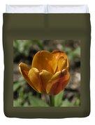 Orange Tulip Squared Duvet Cover
