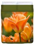 Orange Tulips 2 Duvet Cover