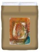 Orange Vase Duvet Cover by Gregory Dallum