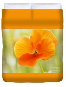 Orange Viola On A Brilliant Spring Day Duvet Cover