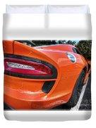 Orange Viper  Duvet Cover