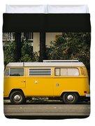 Orange Vw Bus Duvet Cover