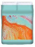 Tangerine Beach Duvet Cover