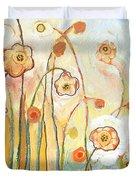 Orange Whimsy Duvet Cover by Jennifer Lommers