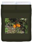 Orange Wild Flowers Duvet Cover