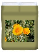 Orange Wildflowers Duvet Cover