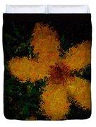 Orange-yellow Flower Duvet Cover