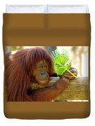 Orangutan Duvet Cover by Carolyn Marshall