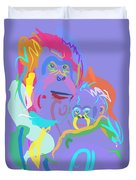 Orangutan Mom And Baby Duvet Cover