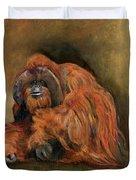 Orangutan Monkey Duvet Cover