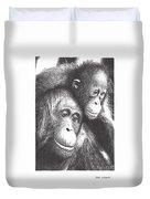 Orangutans Duvet Cover