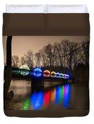 Orbs On Osceola Bridge Duvet Cover