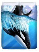 Orca 2 Duvet Cover by Jerry LoFaro