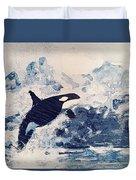 Orca Glacier Duvet Cover