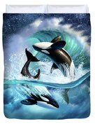 Orca Wave Duvet Cover