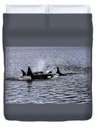 Orcas, The Killer Whales Duvet Cover