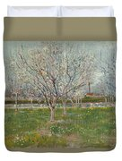 Orchard In Blossom, Plum Trees Duvet Cover