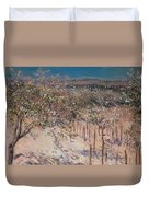 Orchard With Flowering Apple Trees Duvet Cover