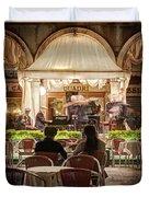 Orchestra At Ristorante Quadri On St Mark's Square - Venice Duvet Cover