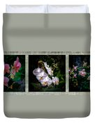Orchid 1 Triptych Duvet Cover