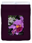 orchid 942 Purple Brassolaeliocattleya  Duvet Cover