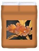 orchid 955 Orange Brassolaeliocattleya Duvet Cover