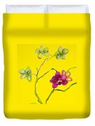 Orchid And Amarillo Duvet Cover
