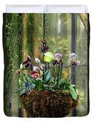 Orchid Basket Duvet Cover