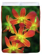 Orchid Blooms Duvet Cover