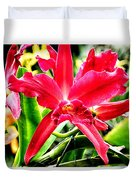 Orchid Cattlianthe Hybrid Duvet Cover