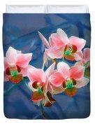 Orchid Flowers 8 Duvet Cover