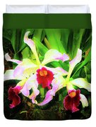 Orchid Flowers Color 1 Duvet Cover