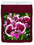 Orchid Hanging In Palms Duvet Cover