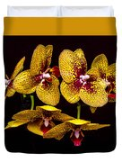 Orchid In Space Duvet Cover