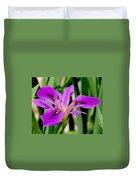 Orchid Iris Duvet Cover