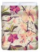 Orchid Pattern Duvet Cover