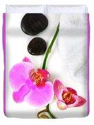 Orchid Spa Composition Duvet Cover