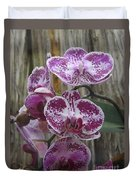 Orchid With Purple Patches Duvet Cover