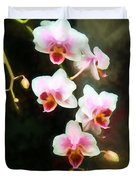 Orchids Abound Duvet Cover