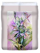 Orchids- Botanicals Duvet Cover