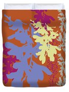 Orchids Caramel Duvet Cover