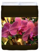 Orchids In Bloom Duvet Cover